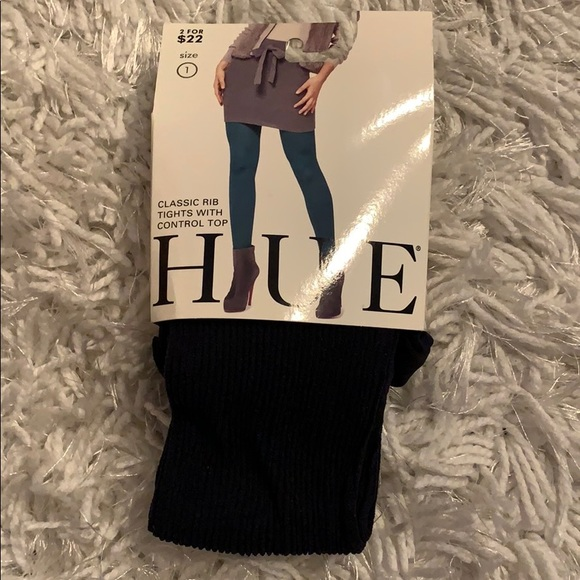HUE Accessories - Hue Classic Rib Tights with Control Top